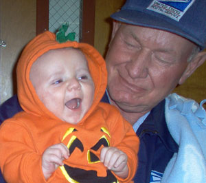 Our Little Pumpkin with PawPaw