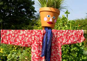 Use an old scarf for a scarecrow or a snow man!