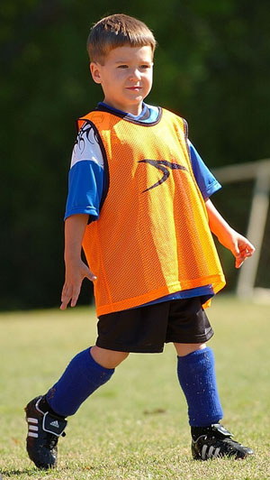 Ethan at His First Soccer Game