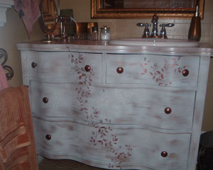 Old Dresser As Bathroom Vanity