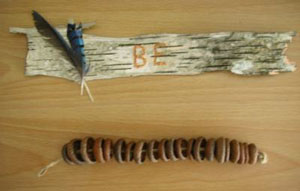 Walden Acorn Bracelet and Bark Wall Hang