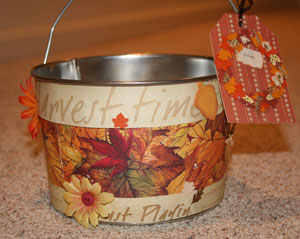 Autumn Apple Pail