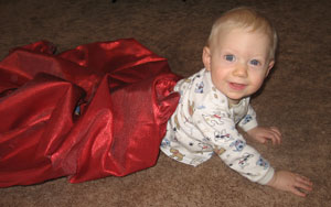Caiden At Christmas