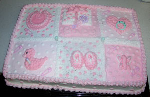 Pretty In Pink Shower Cake