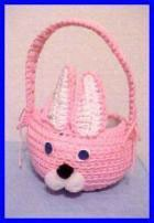 Crocheted Easter Bunny Basket