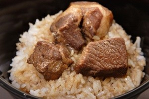 Pork Adobo on Rice