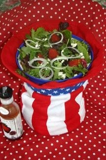 Uncle Sam's Cold Keeper Bowl with Red, White and Blue Salad
