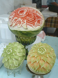 Beautifully Carved Melons