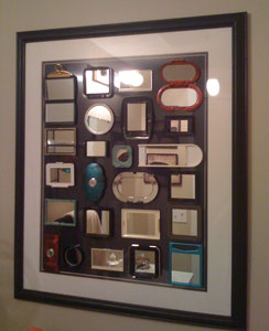 Framed Cosmetic Mirrors As Bathroom Art
