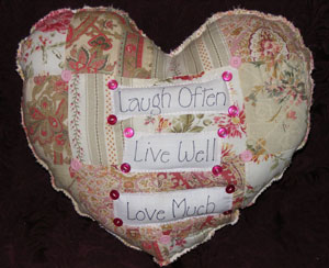 Recycled Heart Pillows