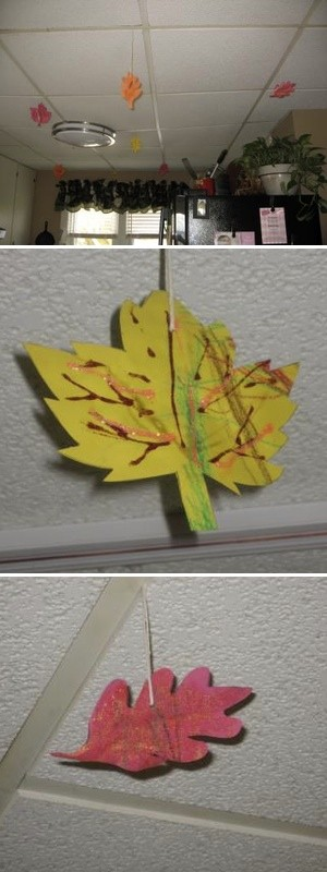 Autumn Leaves Ceiling Decoration