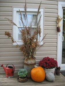 Use Dried Greenery In Your Fall/Winter Displays
