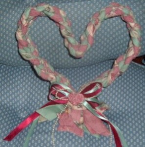 Braided Fabric Heart