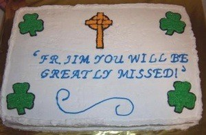 Farewell Party Cake for Irish Priest