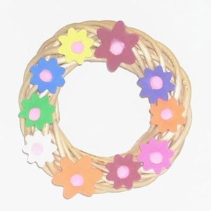 Craft Project: Spring Flower Mini Wreath