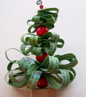 Craft Project: Recycled Mini Trees