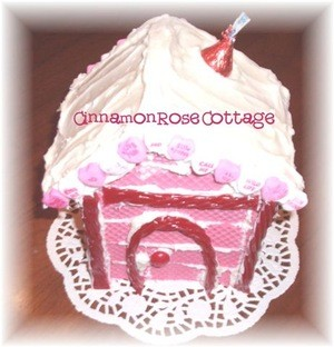 Craft Project: Valentine Cookie House