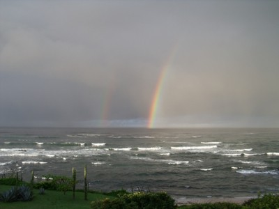 Scenery: Double Rainbows over the Ocean