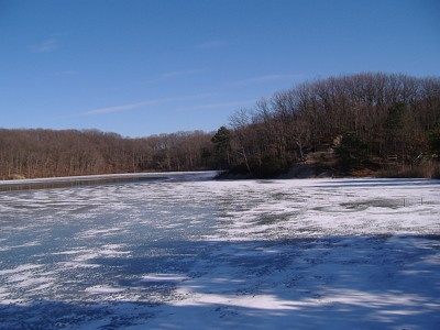 Icy Lake in New Jersey