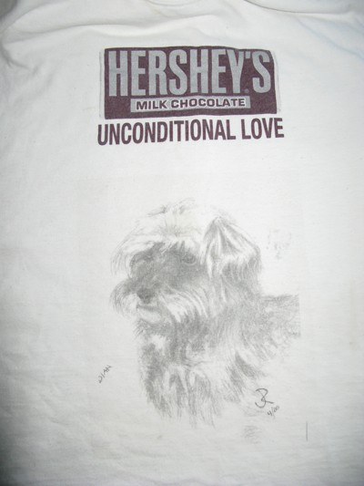 A shirt I made of Hershey