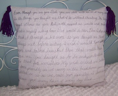 Craft Project: Message Pillow for Father's Day