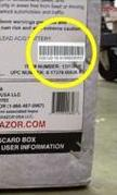 Picture of Recalled Razor(r) E300 Electric Scooter Barcode