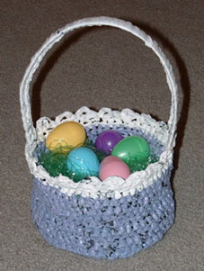 Recycled Crocheted Easter Basket