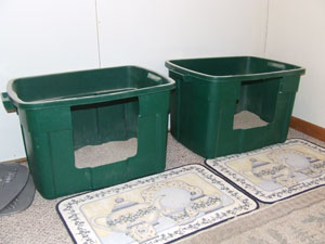 Homemade Deep Litter Box