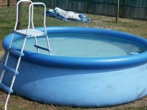 Recycling a vinyl pool thriftyfun for Intex pool koi pond
