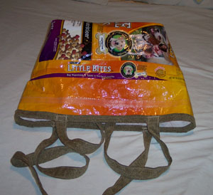 Recycled Dog Food Bag Tote
