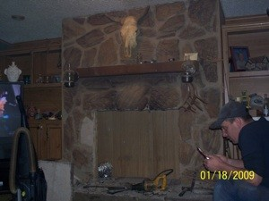 Updating on Old Rock Fireplace
