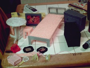 Plastic Canvas Barbie Furniture