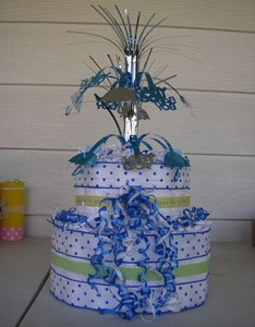 Craft: Baby Shower Diaper Cake