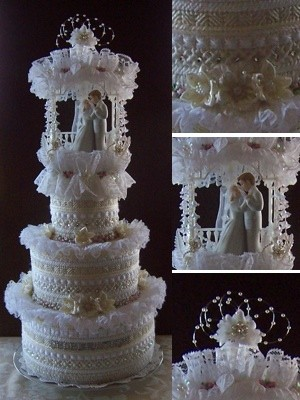 Craft: Plastic Canvas Wedding Cake