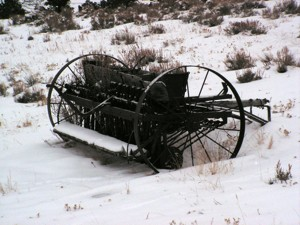 Scenery: Farm Machinery in the Snow