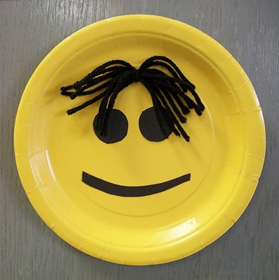 Craft: Paper Plate Smiley Face