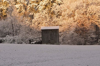 Scenery: Snow Covered Barn