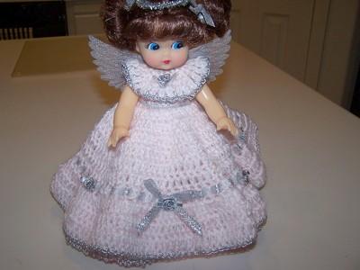 Free Crochet Angel Doll Pattern : Craft: Angel Doll Air Freshener ThriftyFun
