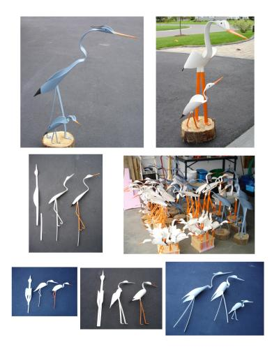 PVC Egret Pattern http://www.thriftyfun.com/Making-PVC-Birds-for-the-Garden.html