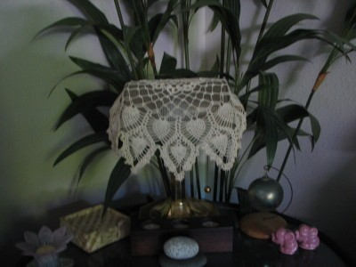 RE: Doily to Brighten Up Drab Lampshade