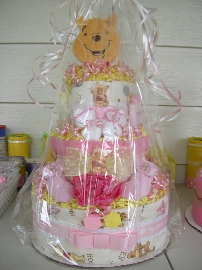 RE: Diaper Cake Using Disposable Diapers