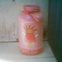 RE: Craft: Girl's Bank from Mayo Jar