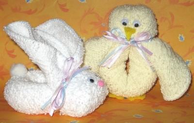 Washcloth animals thriftyfun for Animali con asciugamani