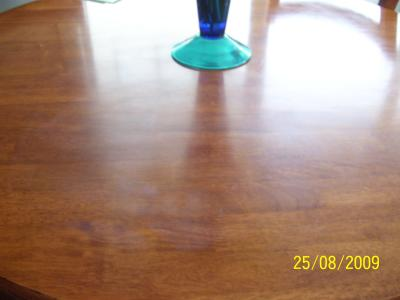 After pics -  White Heat Marks on Wood Table