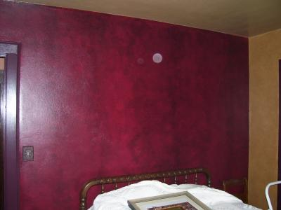 Red Wall Paint Captivating Of Black and Red Faux Paint Walls Image