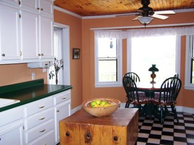 Advice On Painting Kitchen With Green Countertops White Cabinets