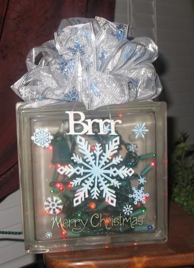 RE: Glass Block Christmas Decoration