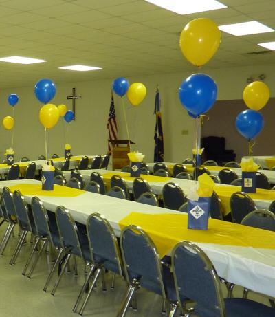 Basketball awards banquet decorations thriftyfun for Awards decoration