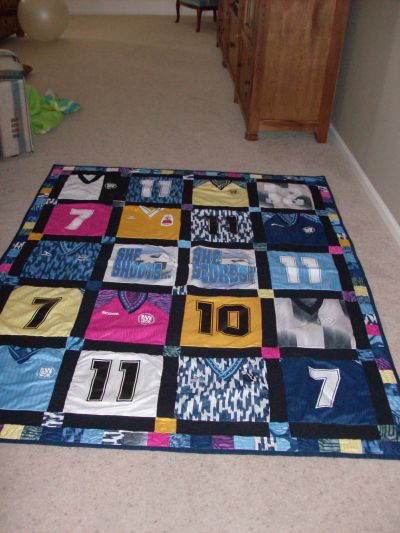 RE: Daughter's Soccer Jersey Quilt
