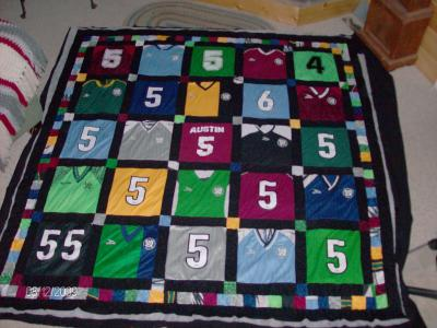 RE: Softball/Soccer Jersey Quilt